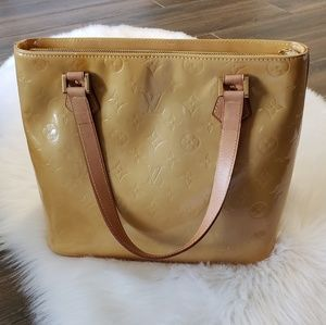 B2G1 Louis Vuitton Yellow Vernis Houston Tote